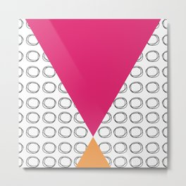 Abstract Circles and Triangles Metal Print