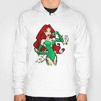 poison ivy Hoodies featuring Poison Ivy by Chris Thompson, ThompsonArts.com