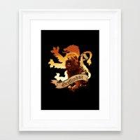 gryffindor Framed Art Prints featuring Gryffindor by Markusian