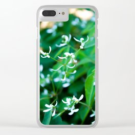 Delicate White II Clear iPhone Case