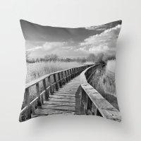 bridge Throw Pillows featuring Bridge by Guido Montañés