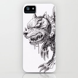 Demon Dog Concept Illustration Art Print iPhone Case