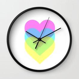 Polarized Hearts Wall Clock