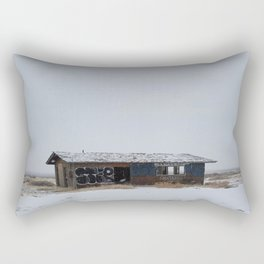 Hopeless, Abandoned, and Alone Under Grey Snow Filled Sky Rectangular Pillow