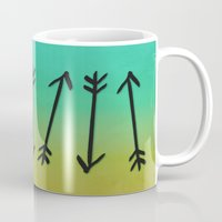 arrows Mugs featuring Arrows by Leah Flores