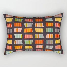 BEACH TOWELS ON BASALT Rectangular Pillow