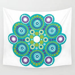 Mandala lots flower Wall Tapestry
