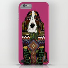 Basset Hound fuchsia pink iPhone 6 Plus Slim Case