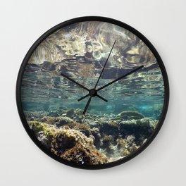 natural underwater background Wall Clock