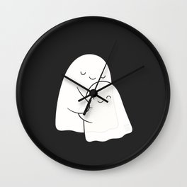 Ghost Hug - Soulmates Wall Clock
