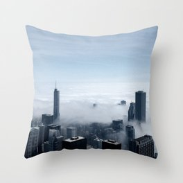 Chicago: Cloudy view from Sears Tower Throw Pillow
