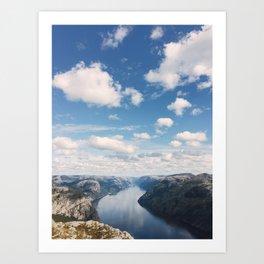 Lysefjorden, Pulpit Rock, Norway Art Print