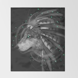 Don't Define the World (Chief of Dreams: Wolf) Tribe Series Throw Blanket