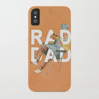 dad iPhone & iPod Cases featuring Rad Dad by Heather Landis