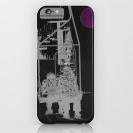 Inverted Ski Lift to the Moon iPhone Case