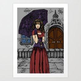Steampunk Umbrella Art Print