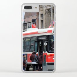 Red Rocket 3 Clear iPhone Case