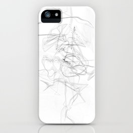 """""""Whatever, Oh Well"""" Black and White Abstract Design iPhone Case"""