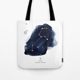 Zodiac Star Constellation - Leo Tote Bag