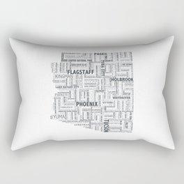 Arizona Typography Print Rectangular Pillow