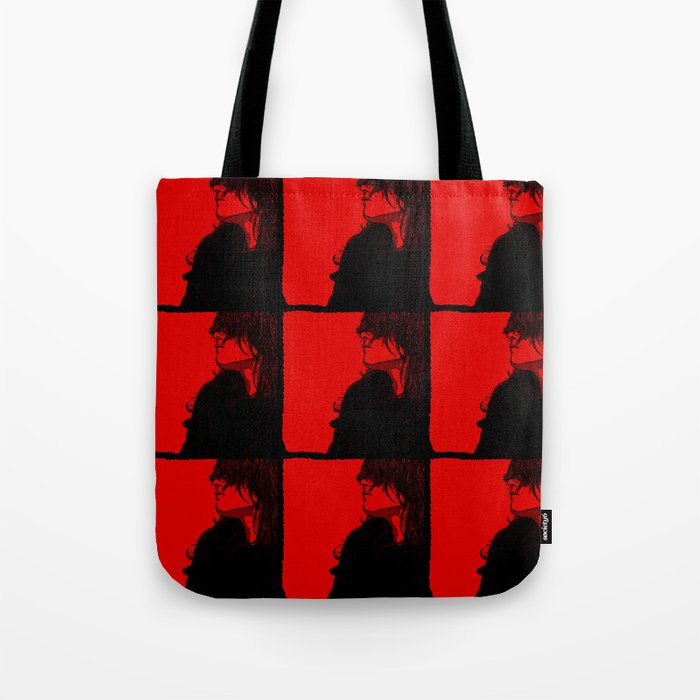 Smoking (Black on Red Variant) Tote Bag