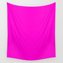 Pink neon color bright summer Wall Tapestry