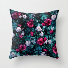 RPE FLORAL ABSTRACT III Throw Pillow