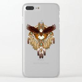 Bald Eagle Mandala Clear iPhone Case