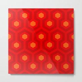 SPHEX CUBES GEO   red orange Metal Print