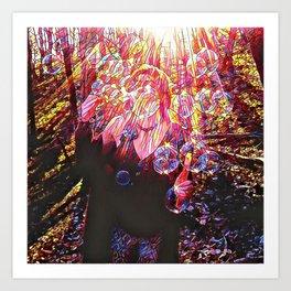 Sunshine Forest Bubble Happiness Art Print