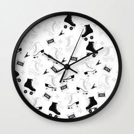 Roller skates pattern 07 Wall Clock