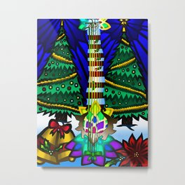 Fusion Keyblade Guitar #178 - Decisive Pumpkin & Combined Keyblade Metal Print