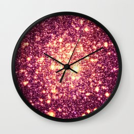 Galaxy. Stars : Rose Gold Wall Clock
