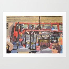 London Buses Art Print