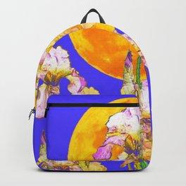 IRIS GARDEN & RISING GOLD MOON  DESIGN ART Backpack