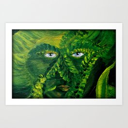 Garden Guardian Hurricane Gnome Art Print
