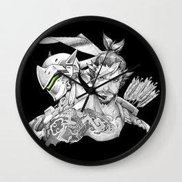 Genji & Hanzo Wall Clock