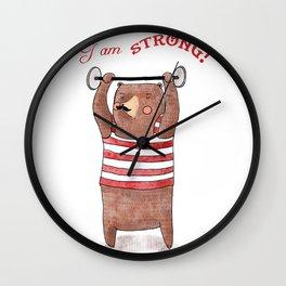 I am strong Wall Clock