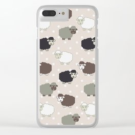 Counting sheep Clear iPhone Case