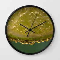 lime green Wall Clocks featuring Lime! by Caroline Benzies Photography