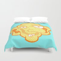 kevin russ Duvet Covers featuring Slim McDibbles by Kevin Berquist by UCO Design