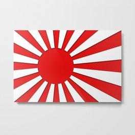Rising Sun Flag in 3D Metal Print