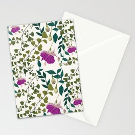 Fuchsia and Ferns Stationery Cards