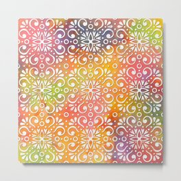 Colorful Moroccan pattern DP050-11 Metal Print