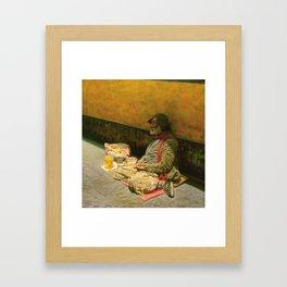 An Old Beggar Framed Art Print
