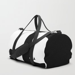 White cat with black Mouse Duffle Bag