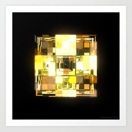 My Cubed Mind: Frame 001 Art Print