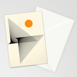 Abstraction_NEW_BIRD_FLY_LINE_POP_ART_033A Stationery Cards