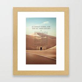 Wizarding Schools Around the World: Egypt Framed Art Print