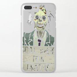 Funny Zombie Halloween Shirt Tshirt Gift Clear iPhone Case